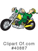 Royalty-Free (RF) Motorcycle Clipart Illustration #40887