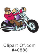 Royalty-Free (RF) Motorcycle Clipart Illustration #40888