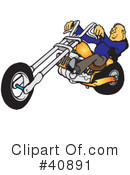 Royalty-Free (RF) Motorcycle Clipart Illustration #40891