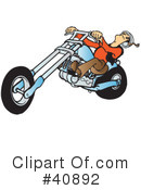 Royalty-Free (RF) Motorcycle Clipart Illustration #40892
