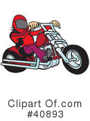 Royalty-Free (RF) Motorcycle Clipart Illustration #40893