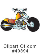 Royalty-Free (RF) Motorcycle Clipart Illustration #40894