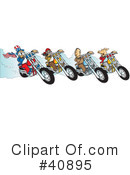 Royalty-Free (RF) Motorcycle Clipart Illustration #40895