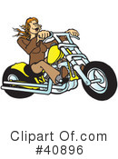 Royalty-Free (RF) Motorcycle Clipart Illustration #40896