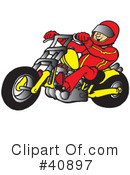 Royalty-Free (RF) Motorcycle Clipart Illustration #40897