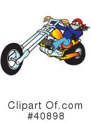 Royalty-Free (RF) Motorcycle Clipart Illustration #40898