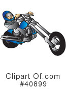 Royalty-Free (RF) Motorcycle Clipart Illustration #40899
