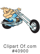 Royalty-Free (RF) Motorcycle Clipart Illustration #40900