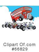 Royalty-Free (RF) Motorcycle Clipart Illustration #66829