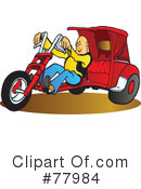 Royalty-Free (RF) Motorcycle Clipart Illustration #77984