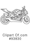 Royalty-Free (RF) Motorcycle Clipart Illustration #93830