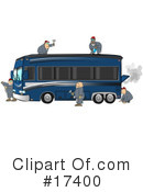 Royalty-Free (RF) Motorhome Clipart Illustration #17400