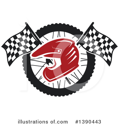 Royalty-Free (RF) Motorsports Clipart Illustration by Vector Tradition SM - Stock Sample #1390443