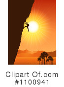 Royalty-Free (RF) Mountain Climber Clipart Illustration #1100941