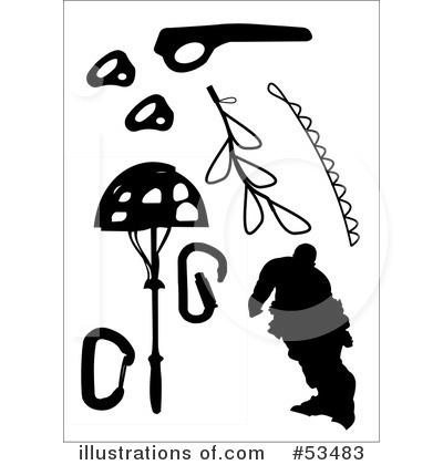 Free mountain climbing clip art