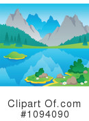Royalty-Free (RF) Mountains Clipart Illustration #1094090