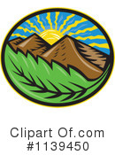 Royalty-Free (RF) Mountains Clipart Illustration #1139450