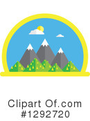 Royalty-Free (RF) Mountains Clipart Illustration #1292720
