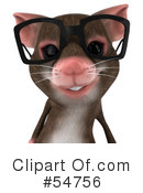 Royalty-Free (RF) mouse character Clipart Illustration #54756