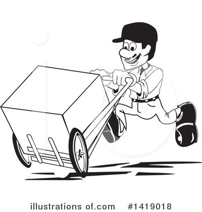 Delivery Man Clipart #1419018 by David Rey