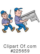 Royalty-Free (RF) Movers Clipart Illustration #225659