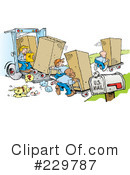 Royalty-Free (RF) Movers Clipart Illustration #229787