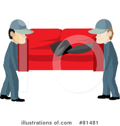 Royalty-Free (RF) Movers Clipart Illustration by Rosie Piter - Stock Sample #81481