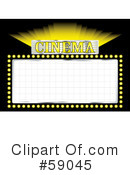 Royalty-Free (RF) Movie Sign Clipart Illustration #59045