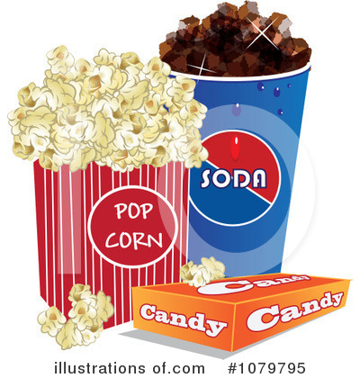 Royalty-Free (RF) Movie Snacks Clipart Illustration #1079795 by ...