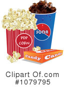 Royalty-Free (RF) Movie Snacks Clipart Illustration #1079795