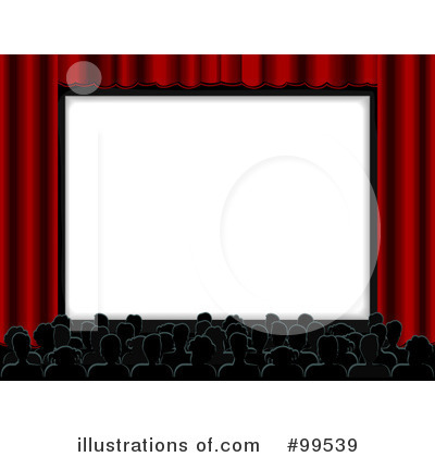 Royalty-Free (RF) Movie Theater Clipart Illustration by BNP Design Studio - Stock Sample #99539