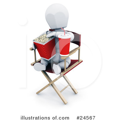 Directors Chair Clipart #24567 by KJ Pargeter