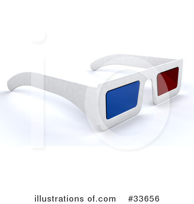 3d Glasses Clipart #33656 by KJ Pargeter