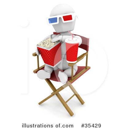 3d Glasses Clipart #35429 by KJ Pargeter