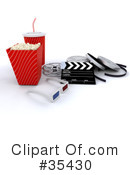 Royalty-Free (RF) Movies Clipart Illustration #35430
