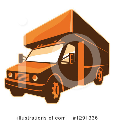 Delivery Van Clipart #1291336 by patrimonio