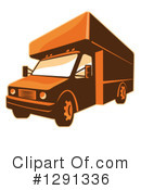 Moving Truck Clipart #1291336 by patrimonio