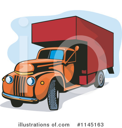 Trucking Clipart #1145163 by patrimonio