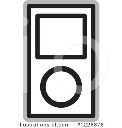 Mp3 Player Clipart #1228878 - Illustration by Lal Perera