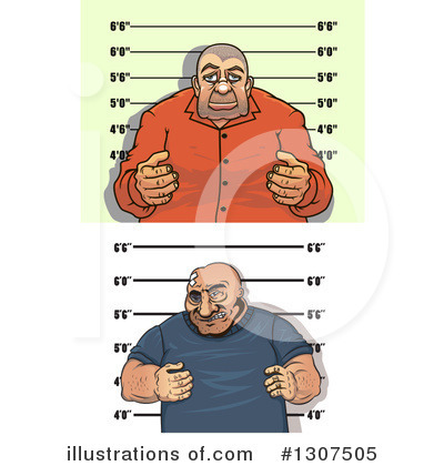 Mugshot Clipart #1307505 by Vector Tradition SM