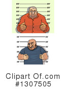 Royalty-Free (RF) Mugshot Clipart Illustration #1307505