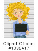 Royalty-Free (RF) Mugshot Clipart Illustration #1392417