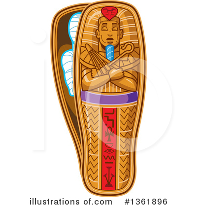 Royalty-Free (RF) Mummy Clipart Illustration by Clip Art Mascots - Stock Sample #1361896