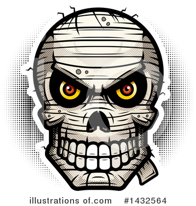 Royalty-Free (RF) Mummy Skull Clipart Illustration by Cory Thoman - Stock Sample #1432564