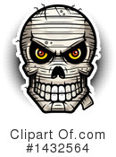 Mummy Skull Clipart #1432564 by Cory Thoman