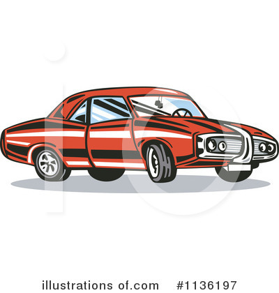 Muscle Car Clipart #1136197 by patrimonio