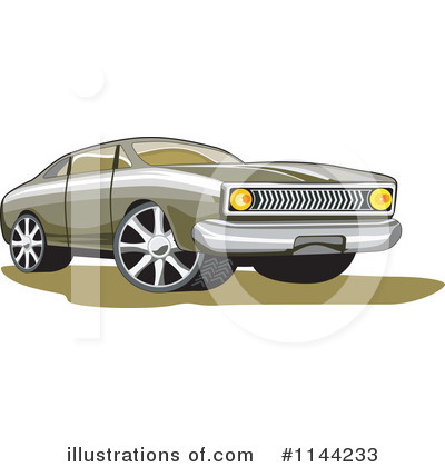 Royalty-Free (RF) Muscle Car Clipart Illustration by patrimonio - Stock Sample #1144233