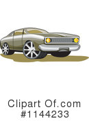 Royalty-Free (RF) Muscle Car Clipart Illustration #1144233