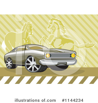 Muscle Car Clipart #1144234 by patrimonio