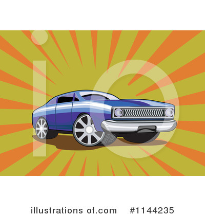 Muscle Car Clipart #1144235 by patrimonio